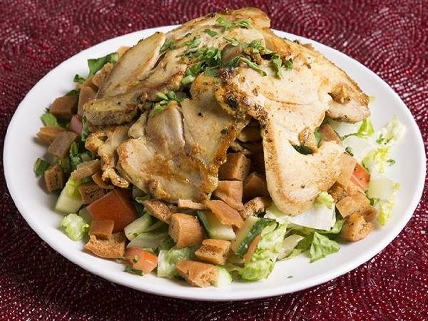 Fattoush with Chicken