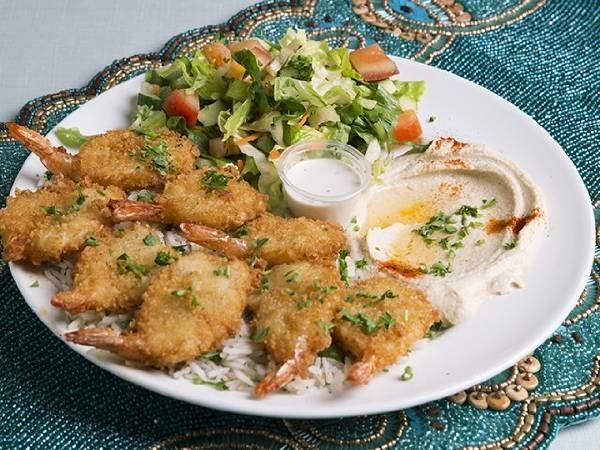 Fried Fantail Shrimp
